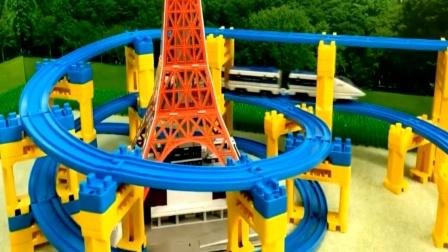 拼装火车轨道玩具视频 小朋友来一起学习拼装吧