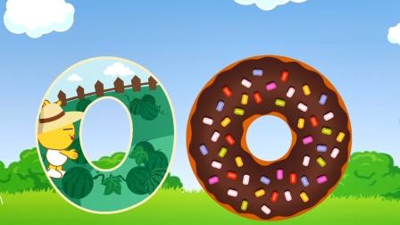数字0  身体圆圆像轮子