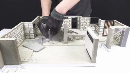 小伙建造迷你现代别墅,最后还进行精装修,这技术真是太牛了