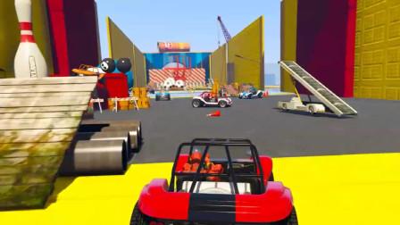 蜘蛛侠:蜘蛛侠和伙伴们开着赛车冲撞了各种障碍物