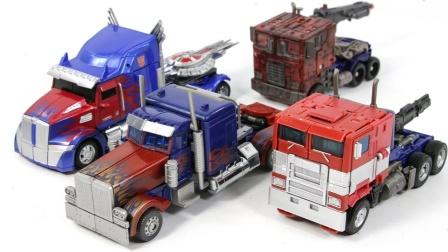 基本变形金刚电影旅行者4类的擎天柱卡车卡车变形机器人玩具。