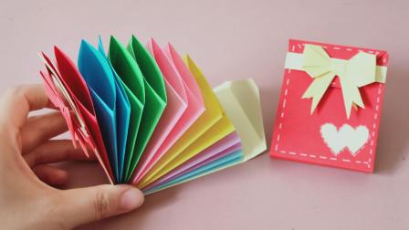diy多层钱包卡包,七彩的颜色很清新,大容量,超级单间一看就会系列