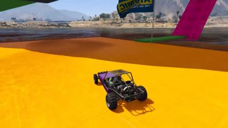 蜘蛛侠:蜘蛛侠开着卡丁车上坡下海