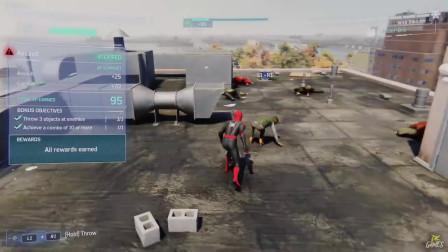 蜘蛛侠:蜘蛛侠在高楼大厦之间跳跃