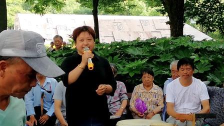 浦江县婺剧戏迷沈国英:在周日文化广场戏迷娱乐队演唱《南和宋》