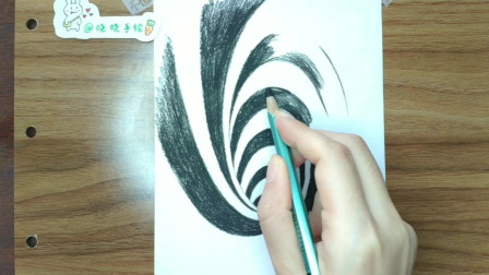 手绘3D立体逼真黑洞,只需一招,简单好学效果好,喜欢别错过