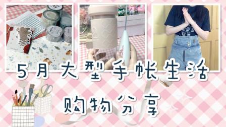 【小卡No.180】开箱|5月大型手帐生活购物分享_胶带|时装|生活小物