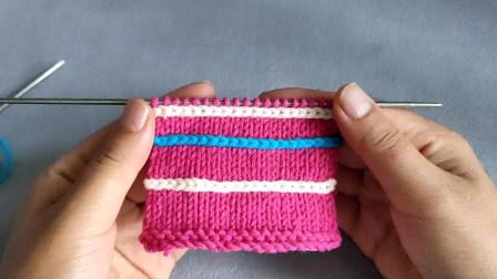 怎样在毛衣的基础钩出一条辫子,还是不同的颜色,不用拆线就能完成