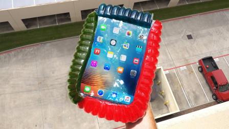 超大软糖能保护iPad吗?土豪从高空扔下,结果让人大开眼界!