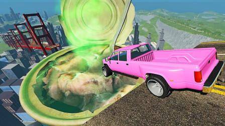 """汽车高速冲过""""鲱鱼罐头""""会怎样?3D动画模拟,场面超刺激!"""
