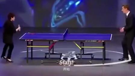 邓亚萍穿高跟鞋拿锅铲和卷福比赛乒乓球,你对力量一无所知