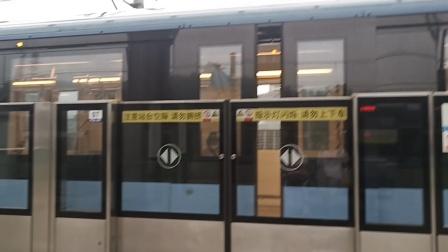南京地铁一号线蓝鱼四世107108号车出红山动物园站(河定桥方向)