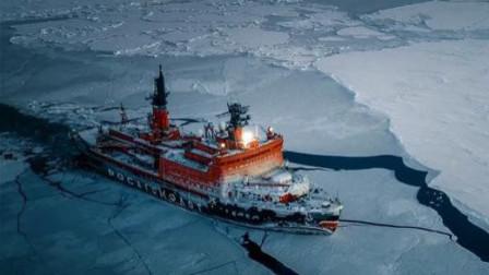 大疆无人机航拍俄罗斯原子破冰船,每一秒都是震撼