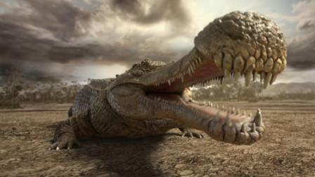 鳄鱼之最,恐龙是它的食物,最强大的肉食性恐龙都要躲着它
