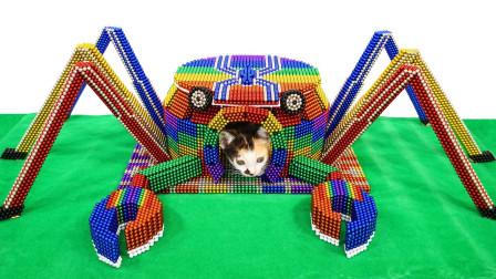小哥奇思妙想,用巴克球设计螃蟹城堡,成品超有艺术感!