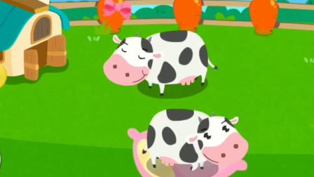 奶牛吃饱喝足好悠闲呀!宝宝巴士游戏