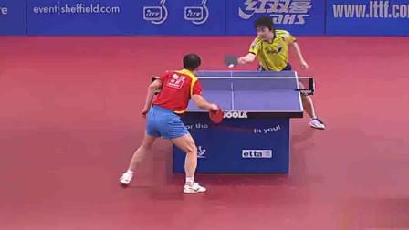 马琳vs岸川圣也,无机时代后马琳发挥最好的一场比赛09英国公开赛