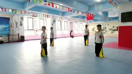 幼儿园小学员练习太极单刀--玉丰太极