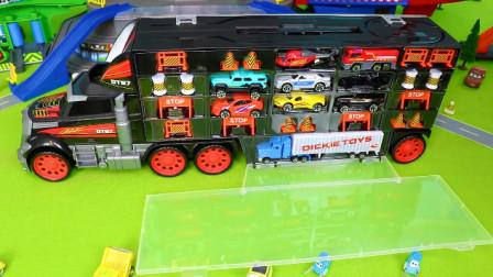 船舶,汽车,垃圾车,挖掘机,消防车和儿童玩具车