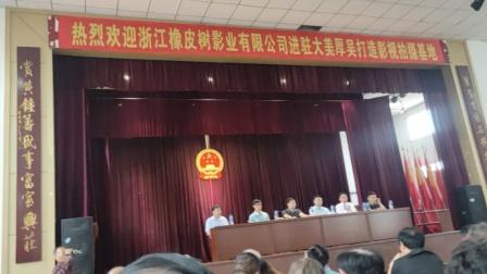 浙江橡皮树影视公司,中国明星书画院进驻大美厚吴影视基地启动会