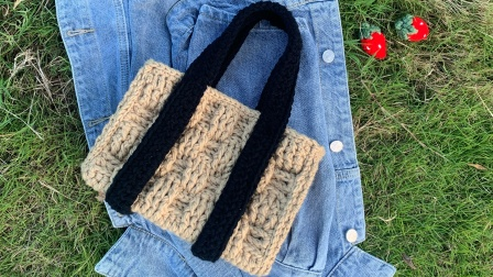 Stuuuly野餐度假毛线手提包包上集