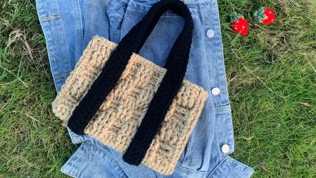 Stuuuly野餐度假毛线手提包包下集