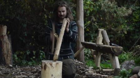 【全职野人】荒野的木工铁匠露营,维京后裔。-03. 芬兰斧头修复