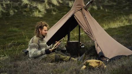 【全职野人】荒野的木工铁匠露营,维京后裔。-05. 单人夜间露营