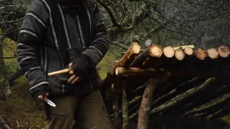 【全职野人】荒野的木工铁匠露营,维京后裔。-08. 丛林之旅[第2部分]