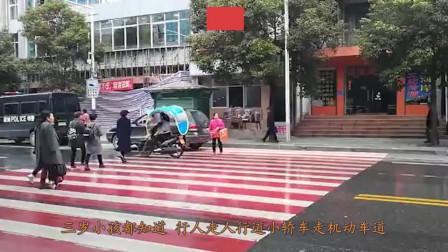三名男女马路上散步,突然车祸就找上了他们,监控拍下一人死状惨烈!