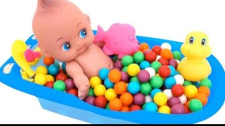 怪怪玩具屋亲子手工做彩虹好玩史莱姆小宝宝