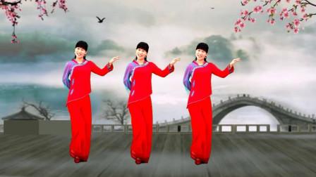 气质美女广场舞《情难渡》网络火热歌曲,柔美好看的舞蹈!