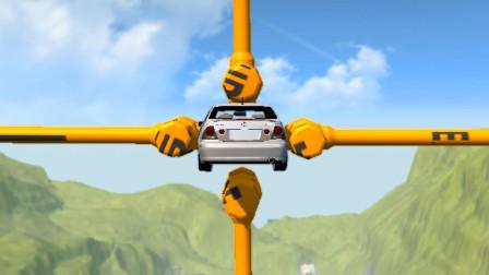 牛人用3D模拟最危险的汽车特技,全程惊险又刺激,千万别眨眼!