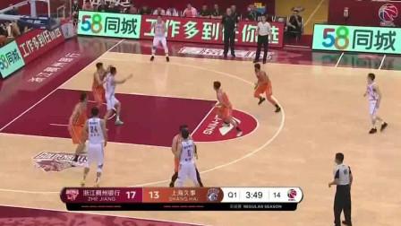 19-20赛季CBA复赛第一阶段全场集锦:浙江115-97上海