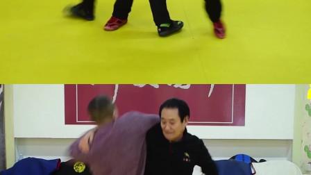 七旬老人上演大人摔小孩,中国跤摔法