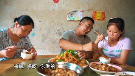 5斤猪肉搭配自制蒸肉粉,桃子姐做一盆粉蒸肉,一家人吃得美滋滋