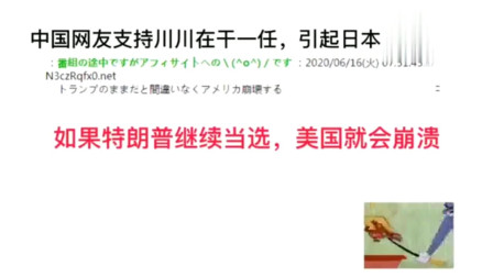 中国网友支持特朗普连任,日本网友:中国网友这是在玩孙子兵法吗
