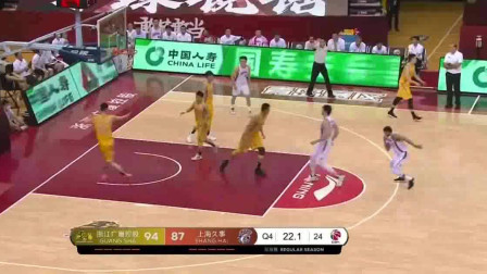 19-20赛季CBA复赛第一阶段全场集锦:广厦95-90上海