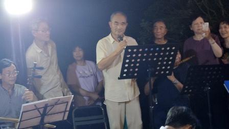浦江婺剧王正土在金丝湖演唱《奉皇命》