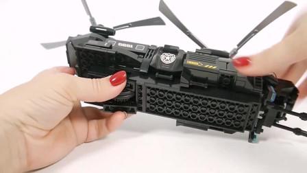 警用运输直升机的拼装
