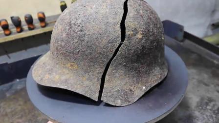 修复二战时期的俄制钢盔,别问是怎么突然变光滑的,问就是刷腻子