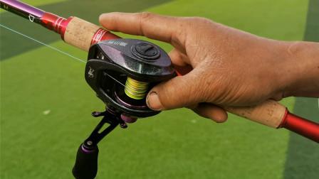 渔小将新款炫彩水滴轮抛投稳定性测评