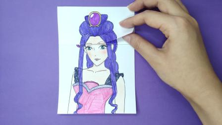用一张纸画画精灵梦叶罗丽茉莉换3次发型,最后美得像换了一个人