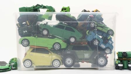 您好卡博托博变形金刚绿色汽车机器人恐龙变身游戏