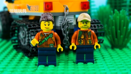 乐高城市树屋停止运动乐高树屋砖块构建绿色汽车机器人恐龙改造.