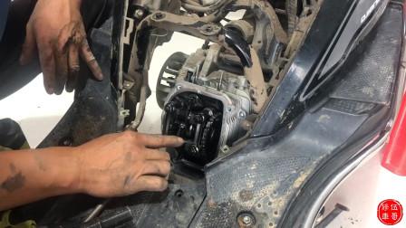 摩托车缸头和缸体拆卸,这些在发动机上有什么作用?伍哥告诉你