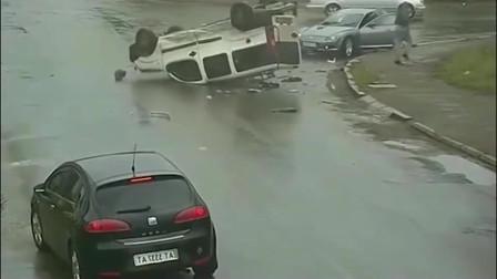 一辆车突然飞了过来,要不是监控拍下谁会相信结果
