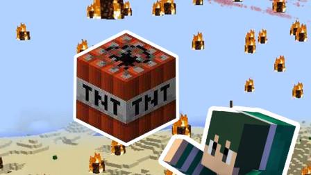 我的世界:豆豆玩了一次大型TNT,竟直接召唤出了陨石!