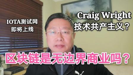Craig Wright的技术共产主义?区块链追求的是无边界商业吗?IOTA测试网即将上线~Robert李区块链日记722