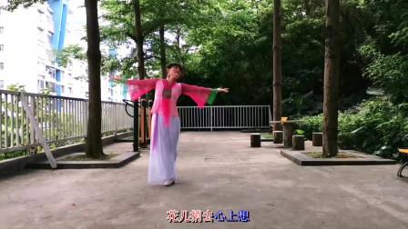 快乐小鸟广场舞《桃花谣》古典舞 编舞:君君老师
